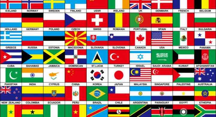 ریشه یابی نام و پرچم کشور ها